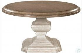 "Elizabeth Antique Oak 54"" Round Dining Table"
