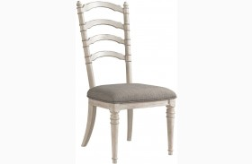 Elizabeth Smokey White Back Side Chair Set of 2