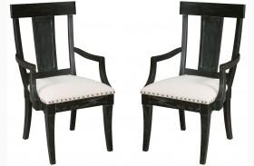 Stone Ridge Black Arm Chair Set of 2