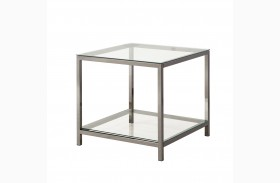 720227 Black Nickel Rectangular End Table