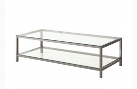 720228 Black Nickel Rectangular Coffee Table
