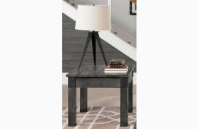 Rustic Grey End Table