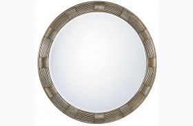Laurel Canyon Beverly Silver Leaf Round Mirror