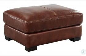 Westport Randall Chestnut Leather Ottoman