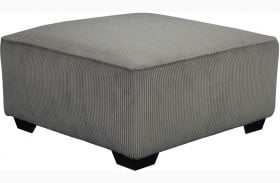 Jinllingsly Gray Oversized Accent Ottoman