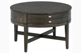 Antique Grey Round Cocktail Table
