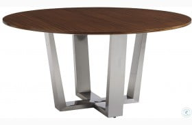Kitano Rich Brown Hazelnut Mandara Round Dining Table