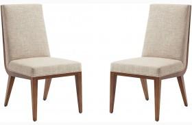 Kitano Rich Brown Hazelnut Marino Dining Chair Set of 2