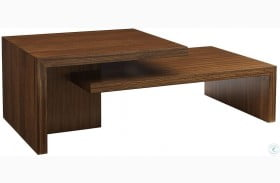 Kitano Rich Brown Hazelnut Cascade Rectangular Cocktail Table