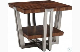 Kitano Rich Brown Hazelnut Gianni Square End Table