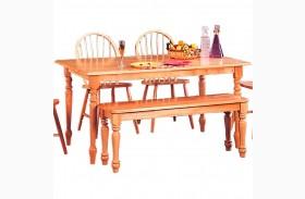 Damen Warm Natural Rectangular Dining Table