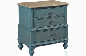 Litchfield Blue Denim Moray Nightstand