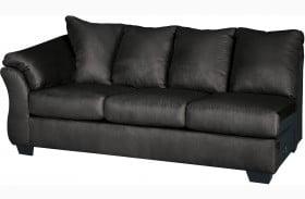 Darcy Black LAF Sofa