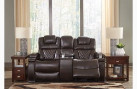 Warnerton Chocolate Power Reclining Loveseat