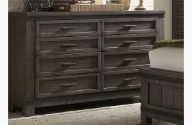 Thornwood Hills Rock Beaten Gray 8 Drawer Dresser