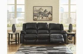 Calderwell Black Power Reclining Sofa