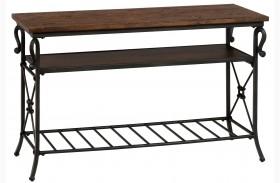 Rutledge Pine Sofa/Media Table