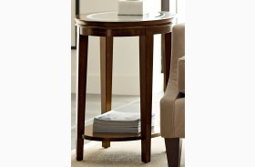 Elise Oval Hand-rubbed amaretto End Table