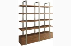 Lenox Medium Brown 2 Drawer Bookcase