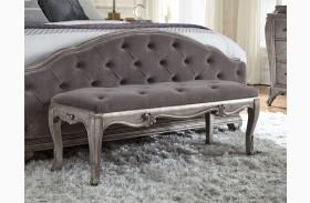 Rhianna Silver Patina Bed Bench