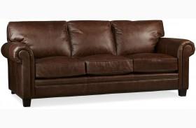 Hillsboro Chaps Havana Brown Leather Sofa