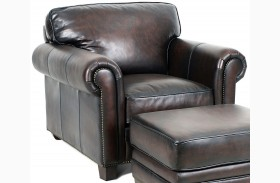 Hillsboro Stetson Coffee Leather Chair