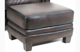 Hillsboro Stetson Coffee Leather Ottoman