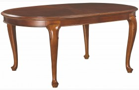 Cherry Grove Classic Antique Extendable Cherry Oval Leg Dining Table