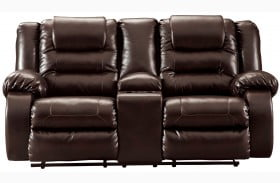 Vacherie Chocolate Double Reclining Loveseat