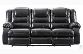 Vacherie Black Reclining Sofa