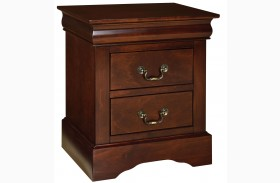 Lewiston Deep Brown Nightstand
