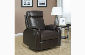 Dark Brown Swivel Retractable footrest system