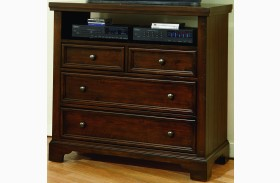 Hanover Dark Cherry 4 Drawer Media Chest