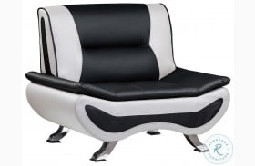 Veloce Black and Ivory Chair