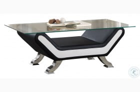 Veloce Black and Ivory Cocktail Table