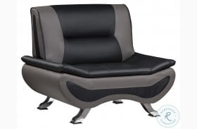 Veloce Black And Gray Chair