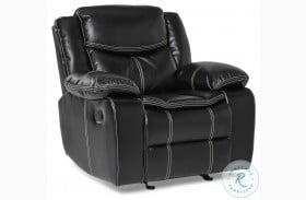 Bastrop Black Glider Reclining Chair