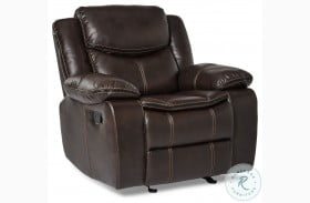 Bastrop Dark Brown Glider Recliner