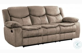 Bastrop Brown Double Reclining Sofa