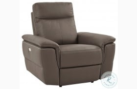 Olympia Raisin Leather Power Reclining Chair