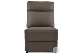 Olympia Brown Finish Armless Chair