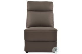 Olympia Brown Finish Power Armless Reclining Chair