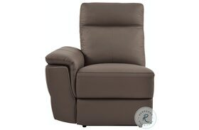 Olympia Brown Finish LAF Power Reclining Chair