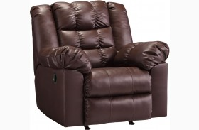 Brolayne DuraBlend Brown Rocker Recliner