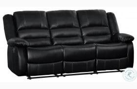 Jarita Black Double Reclining Sofa