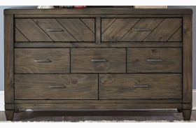 Modern Country 7 Drawer Dresser