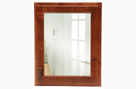 Hickory Inset Medicine Cabinet With Hinged Right