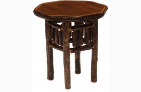 Hickory Espresso Octagon End Table