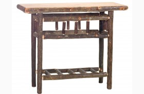Hickory Open Sofa Table