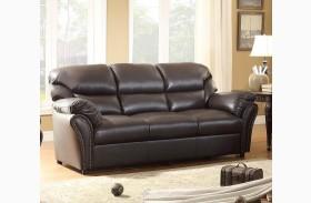 Stinett Dark Brown Sofa